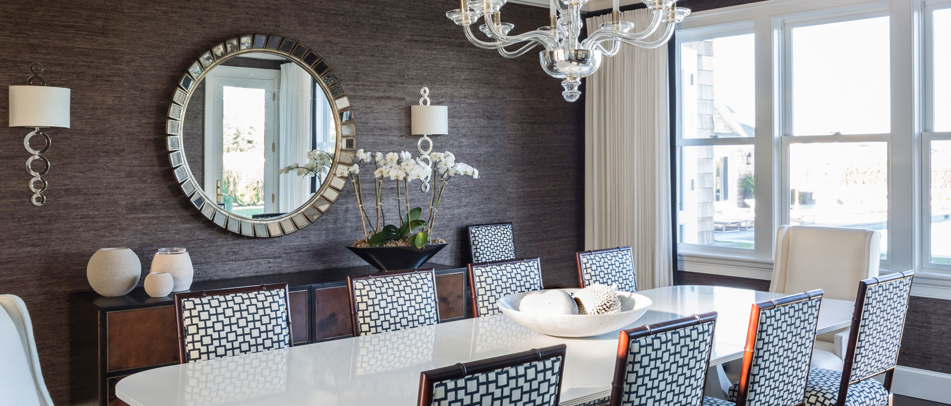 Wallpaper and Window Treatments